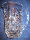 NEW HAND CUT 24 LEAD CRYSTAL PITCHER 7 1 2 15L GLASSWARE WATER BEVERAGE