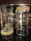 Set Of 4 Fiesta Ware Elegance Water Tumblers  Glass Yellow 3 Ring Iced Tea Water