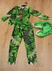 BOYS BNWT AGE 11 12 YEARS DINOSAUR FANCY DRESS COSTUME BOOK DAY HALLOWEEN