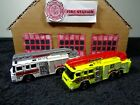 Matchbox 2008 Real Working Rigs Pierce Quantum 75 Ladder Fire Trucks Lot of 2