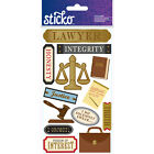 Scrapbooking Stickers Sticko Lawyer Integrity Brief Case Law Book Gavel Object
