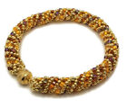 Russian Spiral Glass Fall Color Bracelet
