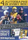 2019 Sage Hit Football HIGH SERIES Factory Sealed Retail Box with FOUR(4) AUTOGR