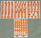 Creative Memories Alphabet Letter ABC and number 123 stickers Orange