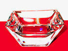 KOSTA BODA SIGURD PERSSON SQUARE CRYSTAL BOWL THICK BEVELED SIGNED