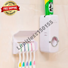 Automatic Toothpaste Dispenser And Dental Brushes Holder Wall Mount Bath Set