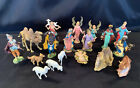 Vintage 18 Pc Fontanini Depose Nativity Set Italy Spider Wise Men Camel Angels +