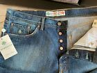 NWT 248 LUIGI BORRELLI Luxury Vintage Jeans Size38 Comfort Fit Made in Italy