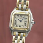 Cartier Panthere Lady Stahl / Gold Damenuhr Kal. 157 Klassiker VP: 7350,- €