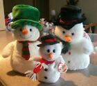 TY CLASSIC Mr. Flurries, TY PLUFFIES Mr. Snow, 1996 Beanie Snowball