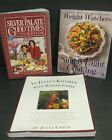 3 vintage COOKBOOK LOT Silver Palate Weight Watchers Julia Childs Kitchen