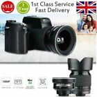 FHD 33MP 1080P Digital Camera Camcorder with Wide Angle Lens 24X Telephoto Lens