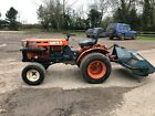 Kubota B7100 HST 4wd tractor  twose flail topper