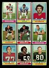 1974 TOPPS FOOTBALL LOT OF 100 DIFFERENT MINT FROM VENDING *178765