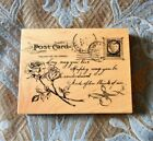 Retired Wooden Rubber Stamp Victorian Love Sonnet Postcard K3238 NEW