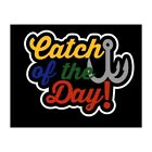 Catch Of The Day Scrapbook Title Premade Paper Piece