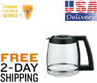 Cuisinart Dcc3200 Replacement Carafe 14 Cup Coffee Maker Pot Glass Black no drip