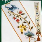 Elsa Williams FLORAL FANTASY BELLPULL Jacobean Vine Vtg Crewel Kit Bluebird