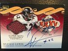 Ray Lewis 2001 Topps Auto Game Used Super Bowl Football XXXV Autograph SSP