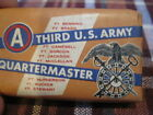 Vintage Soap Bar Third U.S. Army Quartermaster Lux Toilet Soap Lever Bros SEALED