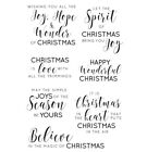 Kaisercraft Traditional Christmas Clear Cling Stamps Greetings sentiments