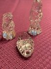 WATERFORD CRYSTAL MARQUIS RETIRED 3 PIECE NATIVITY SET JESUS MARY