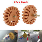 2x Decal Removal Eraser Wheel with Power Drill Arbor Adapter 4