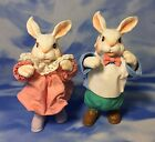 HTF 2 Vintage Clothtique Possible Dreams Easter Bunny Rabbit Figurines 1989 RGUC