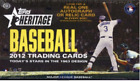 2012 Topps Heritage Baseball SEALED Hobby Box - TROUT RC?
