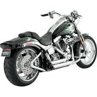 Shortshots Staggered Exhaust System Vance  Hines Chrome 17221