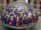 Vintage Millefiori Factory Murano Glass Paperweight 4 SIGNED