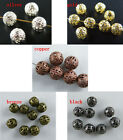 950 4mm 12mm Round Filigree Spacer Beads Gold Silver Copper etc S87 S111