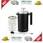 Insulated French Press Coffee Maker Stainless Steel Double Wall Pour Over 34oz