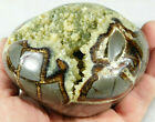 A Deep Crystal Cave on This Septarian Abstract Sculpture From Utah 969gr