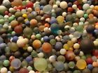Bulk 300 Vintage Glass Satin Sea Beach Style Marbles Frosted Old Toys Free Ship