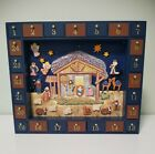 Kurt S Adler Magnetic Nativity Advent Calendar 24 Wooden Decorations COMPLETE