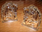 Antique Federal Glass Horse Head Bookends (2-PIeces) Heavy