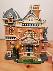 PORCELAIN LIGHTED BUILDING-LEMAX EAST STREET POLICE DEPARTMENT-CHRISTMAS VILLAGE