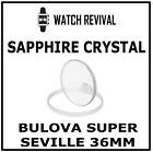 HQ SAPPHIRE CRYSTAL GLASS FOR BULOVA SUPER SEVILLE 36MM DATE DAY DATE  GASKET