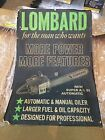 Lombard chainsaw advertising sign print