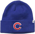 Chicago Cubs Raised Cuffed Knit Hat Blue