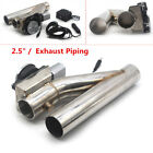 25 Electric Exhaust Piping Tube Downpipe Cutout E Cut Out Dual Valve Remote