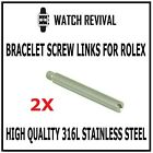 REPLACEMENT SCREW LINKS FOR ROLEX BRACELET ALL SIZES, SUBMARINER DATEJUST