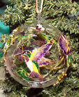 Hummingbird Cloisonne Glass Ornament 1300I Dragonfly Butterfly