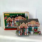 Lemax Lou's Garage Gas and Auto Service Village Lighted Display 2013