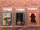1977 Topps Star Wars 2 GRADE CARDS AND 1 GRADED STICKER