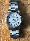 Rolex 2002 Datejust 16234 White Gold White Dial Fluted Bezel Quick Set 36mm
