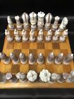 LLADRO  MEDIEVAL 32 Pieces CHESS SET With Board