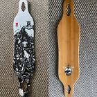 Arbor Axis Bamboo Longboard Drop Through 40 X 85 Deck Only New Koi Fish Art