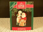 HALLMARK ORNAMENT 1991 MR. & MRS. CLAUS 6th. EDITION---CHECKING HIS LIST---DATED